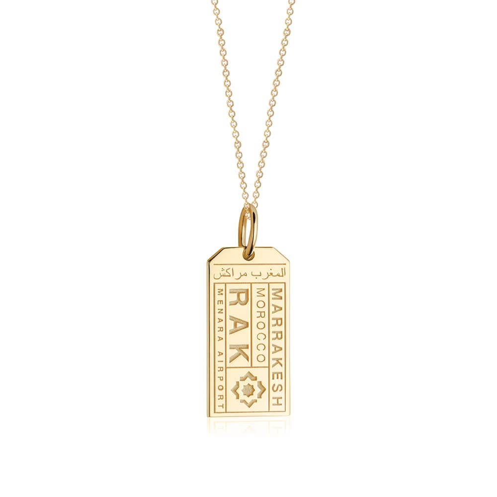 Gold Morocco Charm, RAK Marrakesh Luggage Tag - JET SET CANDY