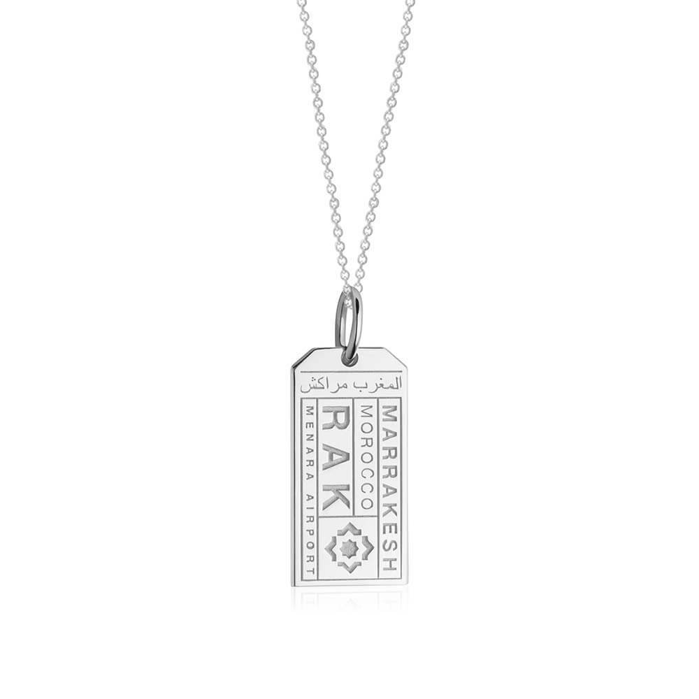 Silver Morocco Charm, RAK Marrakesh Luggage Tag - JET SET CANDY