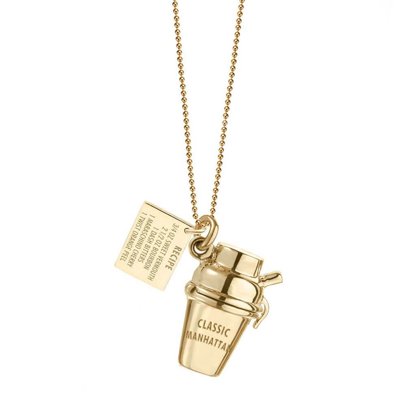 Gold New York Charm, Classic Manhattan Shaker - JET SET CANDY