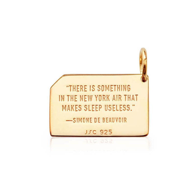 New York Gold Charm, MetroCard - JET SET CANDY