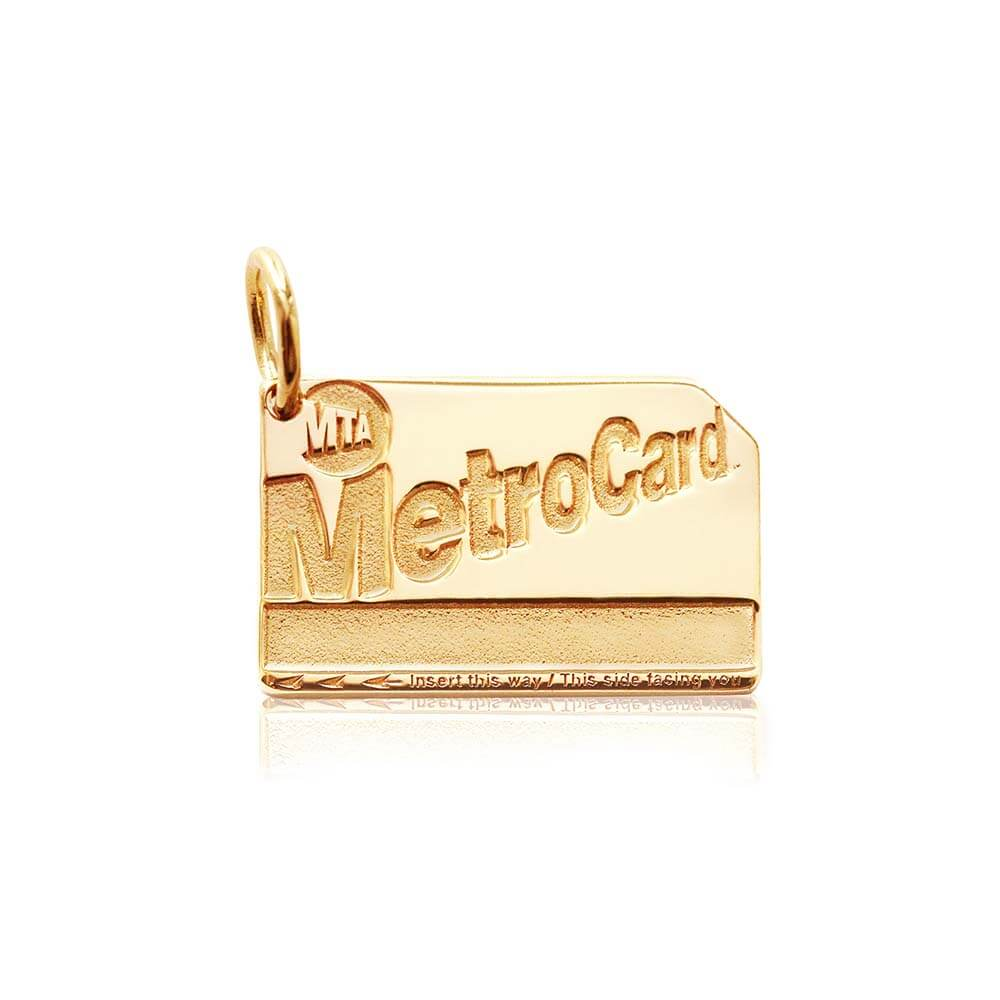 New York Gold Charm, MetroCard (SHIPS JUNE) - JET SET CANDY
