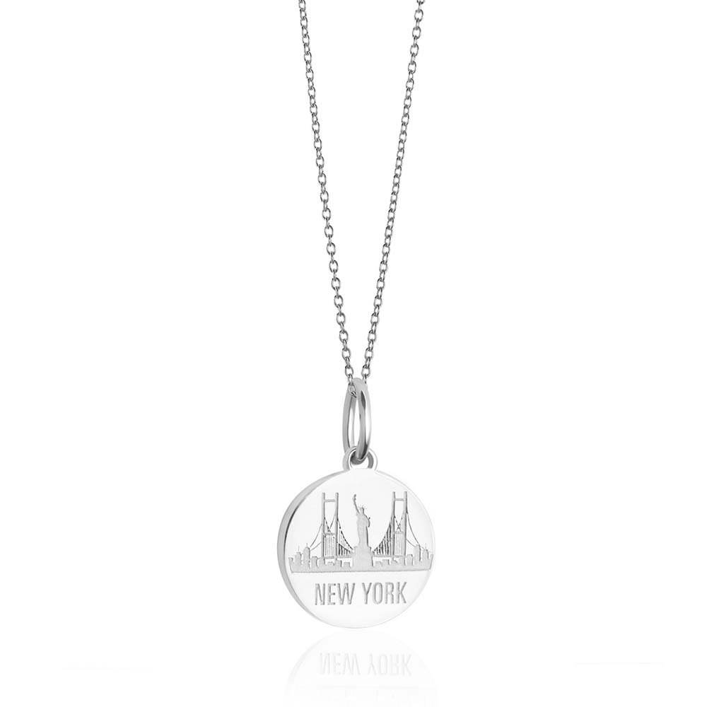 Sterling Silver New York Necklace, Mini NYC Skyline - JET SET CANDY