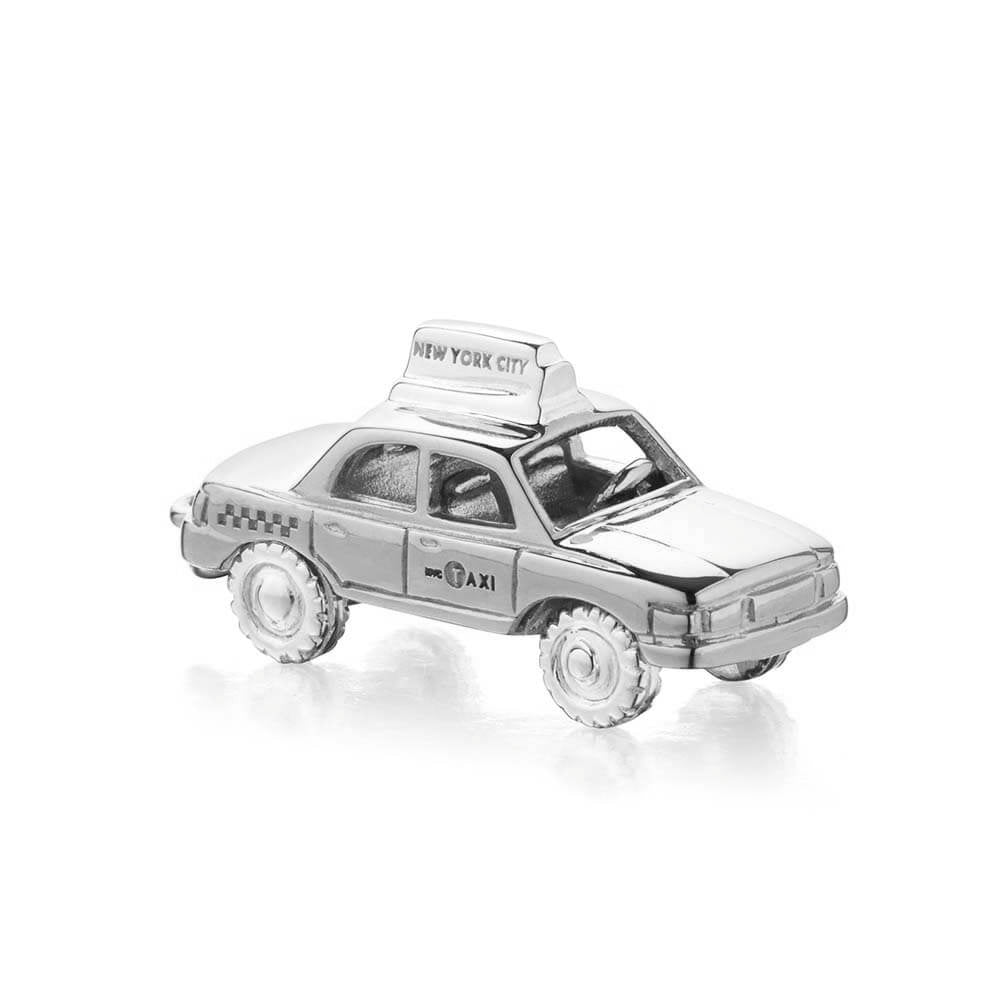 Silver New York Taxi Charm - JET SET CANDY