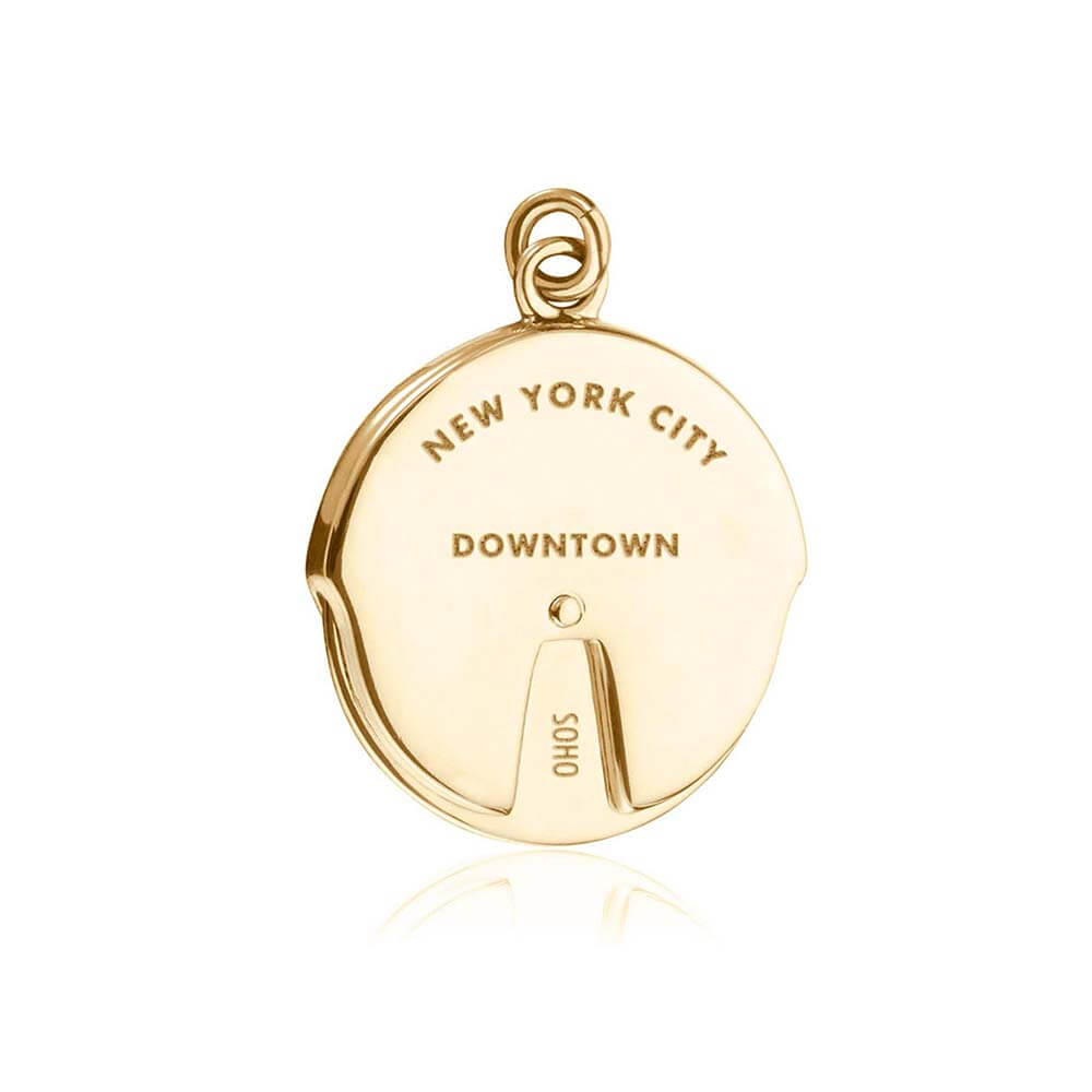 Gold New York Charm, Uptown/Downtown Spinner - JET SET CANDY