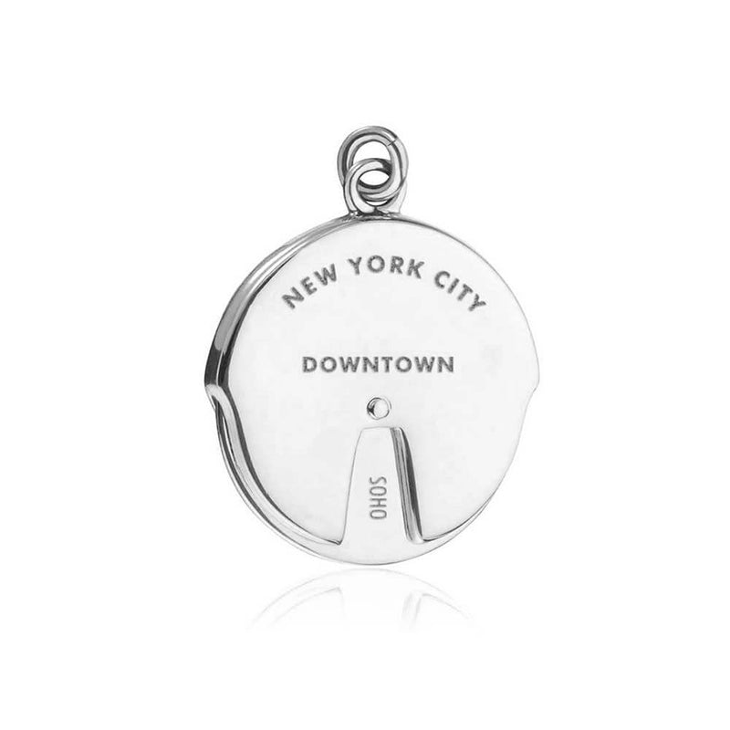 Silver New York Charm, Uptown/Downtown Spinner - JET SET CANDY