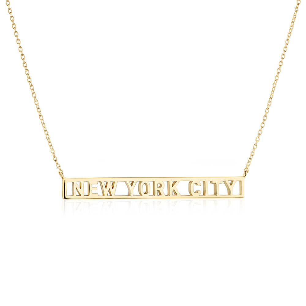Gold New York Cutout Necklace - JET SET CANDY