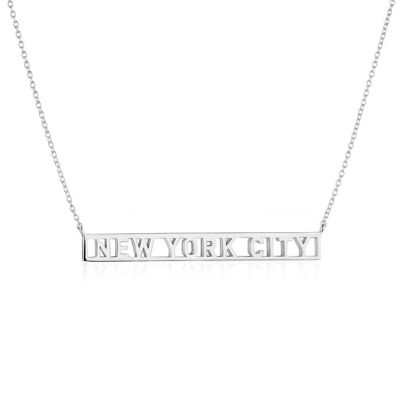 Silver New York Cutout Necklace - JET SET CANDY