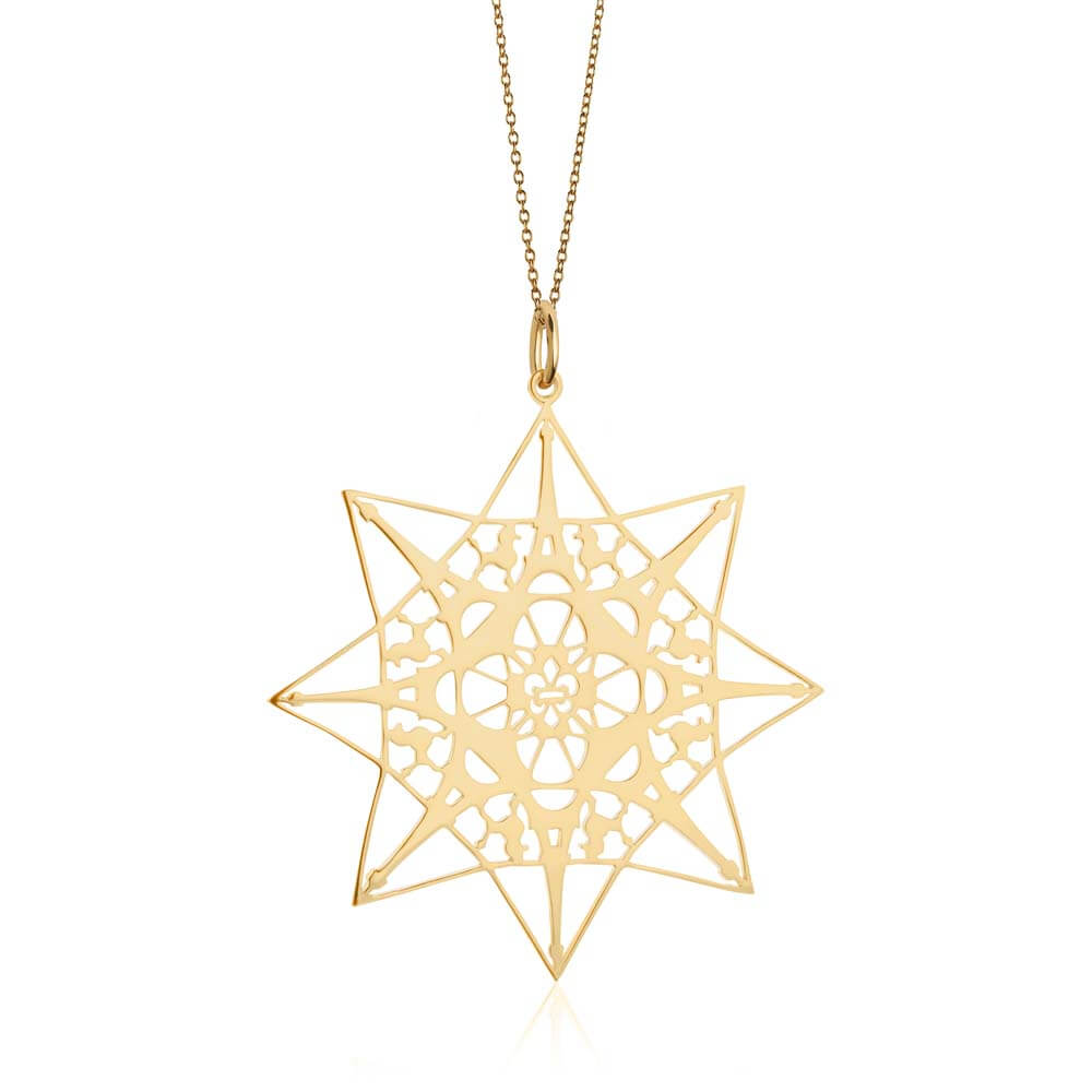 Gold Paris Pendant Necklace - JET SET CANDY