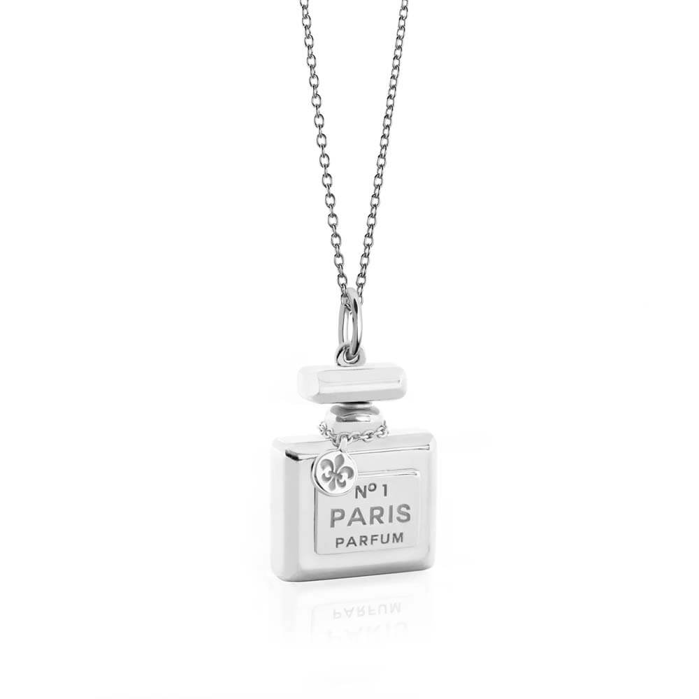 Perfume Bottle Charm In Sterling Silver - JET SET CANDY