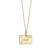 Solid Gold France Passport Stamp Charm - JET SET CANDY