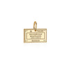 Solid Gold Russia Passport Stamp Charm - JET SET CANDY