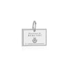 Sterling Silver Travel Charm, Burundi Passport Stamp - JET SET CANDY