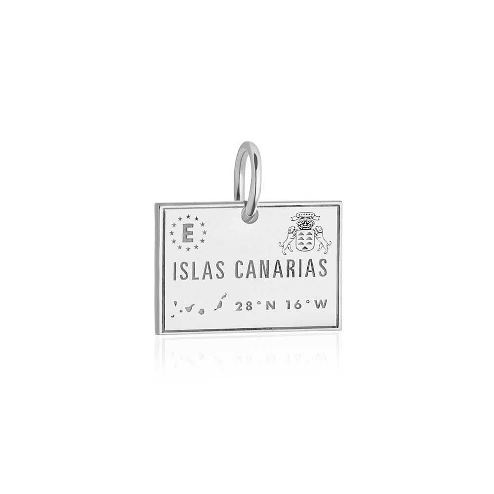 Sterling Silver Canary Islands Charm, Passport Stamp - JET SET CANDY