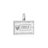 Silver Chile Charm, Passport Stamp - JET SET CANDY