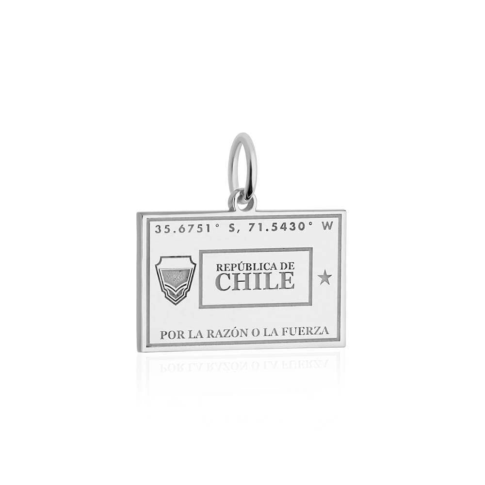 Silver Chile Charm, Passport Stamp (BACK-ORDER-SHIPS EARLY MARCH) - JET SET CANDY