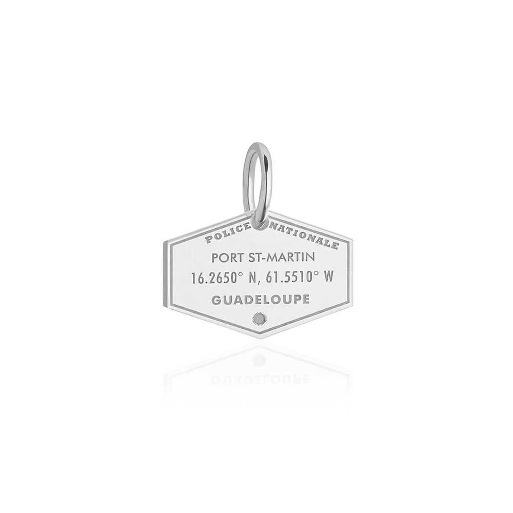 Sterling Silver Guadeloupe Passport Stamp Charm - JET SET CANDY