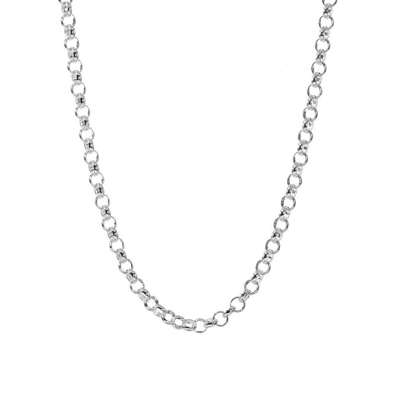 "Silver Rolo Chain, 30"" to 36"" - JET SET CANDY"