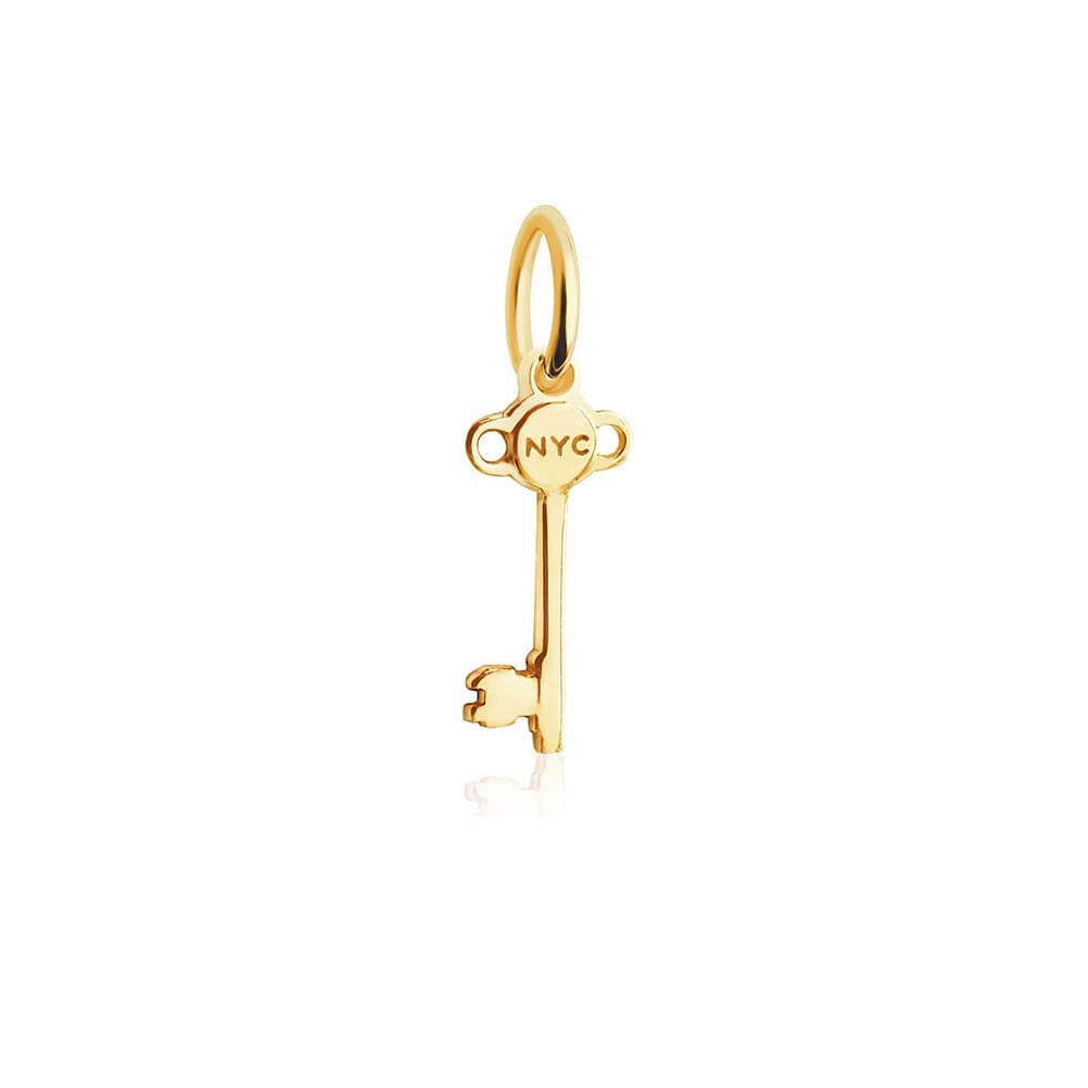 Solid Gold New York Mini Key Charm (BACK ORDER-SHIPS LATE FEBRUARY) - JET SET CANDY