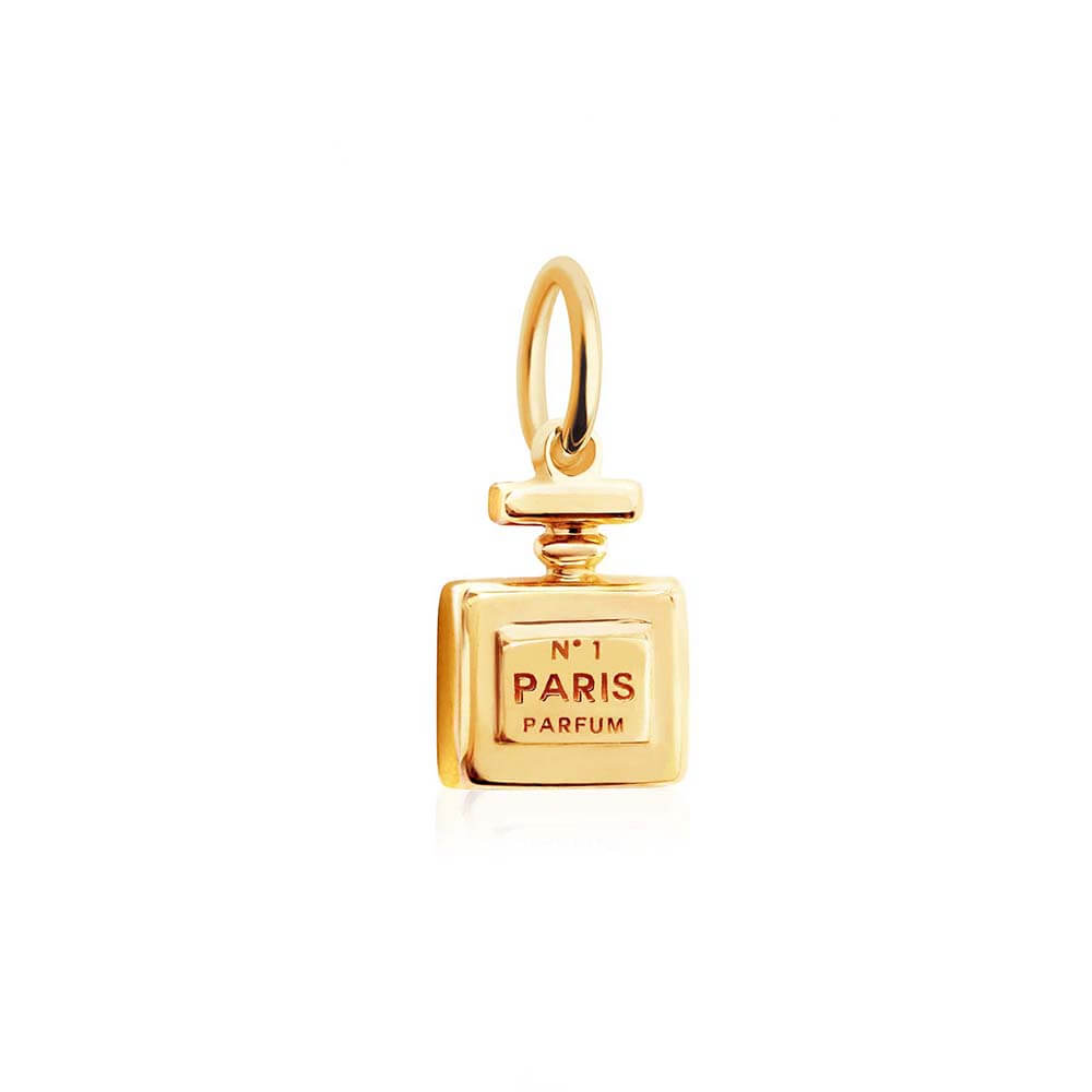 Mini Perfume Bottle Charm in Solid Gold (BACK-ORDER-SHIPS MARCH) - JET SET CANDY