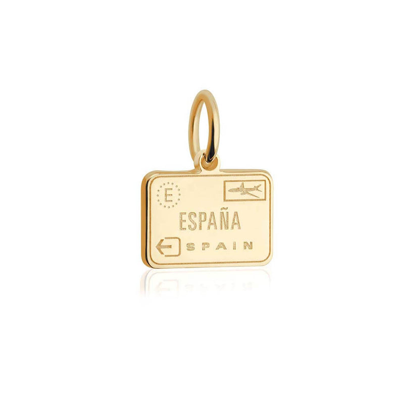 Solid Gold Mini Spain Passport Stamp (SHIPS JUNE) - JET SET CANDY