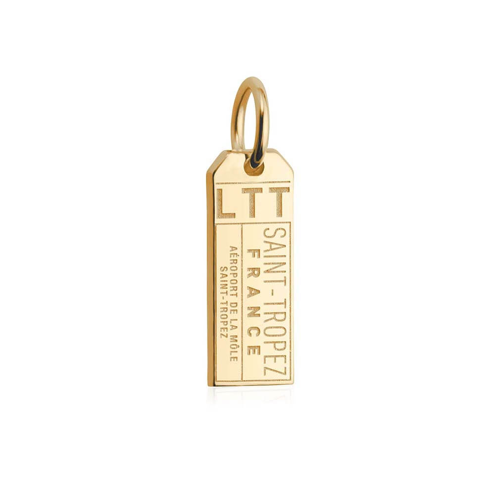 Solid Gold Mini Charm, LTT Saint Tropez Luggage Tag - JET SET CANDY
