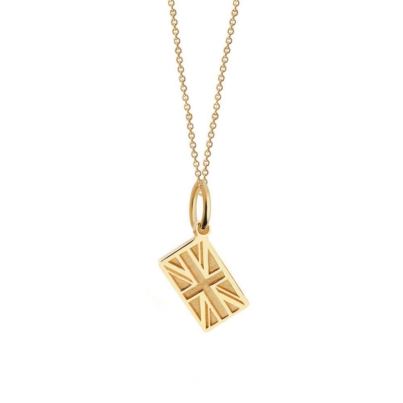 Solid Gold Mini London Charm, Union Jack (SHIPS JUNE) - JET SET CANDY