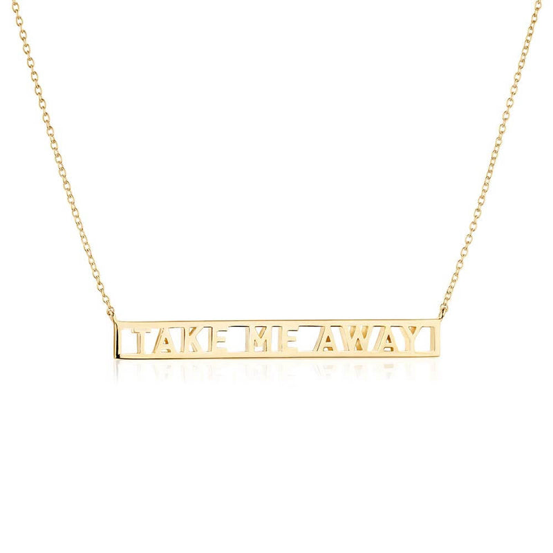 Gold Travel Necklace, Take Me Away - JET SET CANDY
