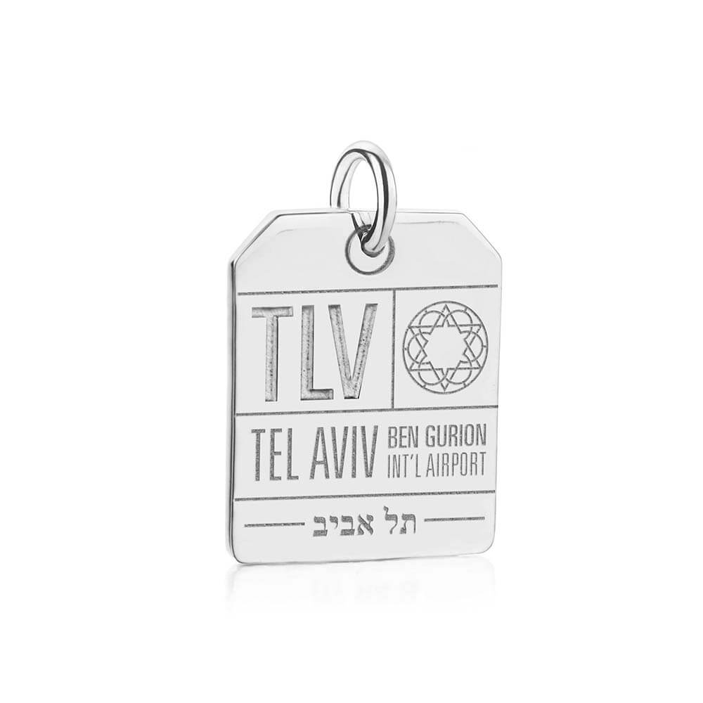 Silver Tel Aviv Charm, TLV Luggage Tag - JET SET CANDY