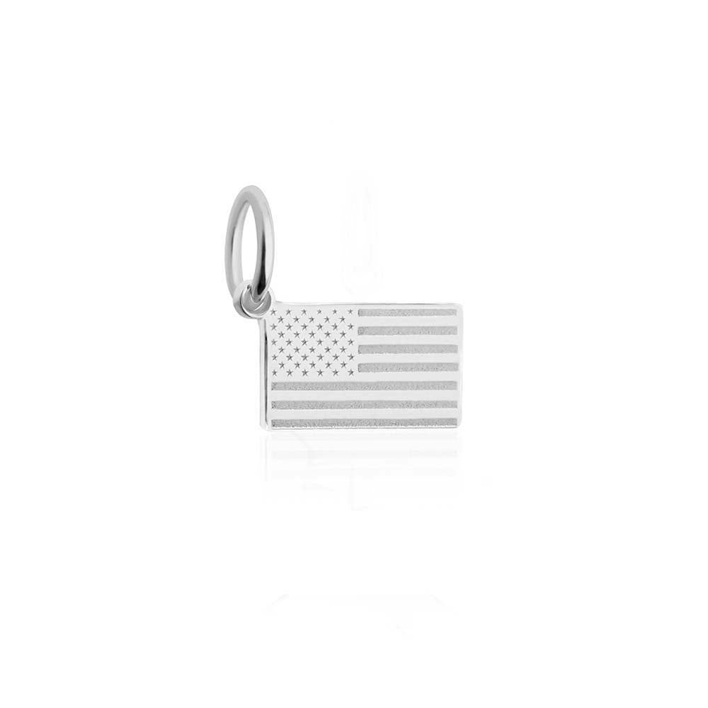 Mini Silver USA Flag Charm-GWP