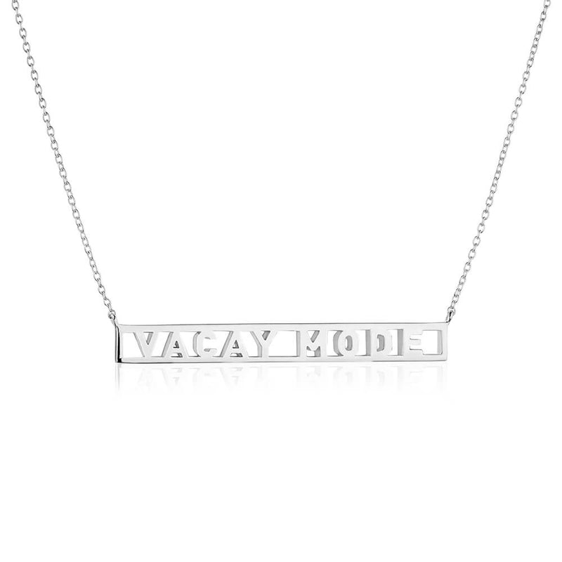 Silver Travel Necklace, Vacay Mode - JET SET CANDY