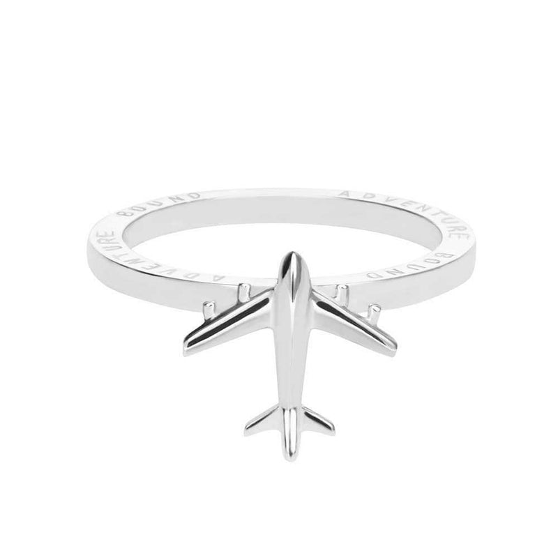 Silver Airplane Ring - JET SET CANDY