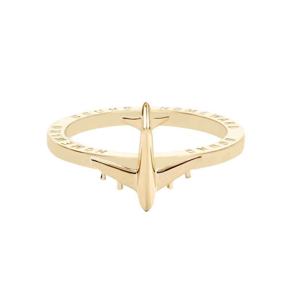 Gold Airplane Ring - JET SET CANDY