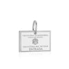 Sterling Silver Travel Charm, Andorra Passport Stamp - JET SET CANDY