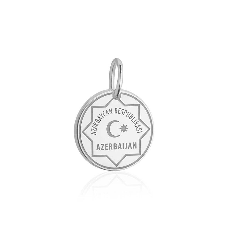 Sterling Silver Charm, Azerbaijan Passport Stamp - JET SET CANDY