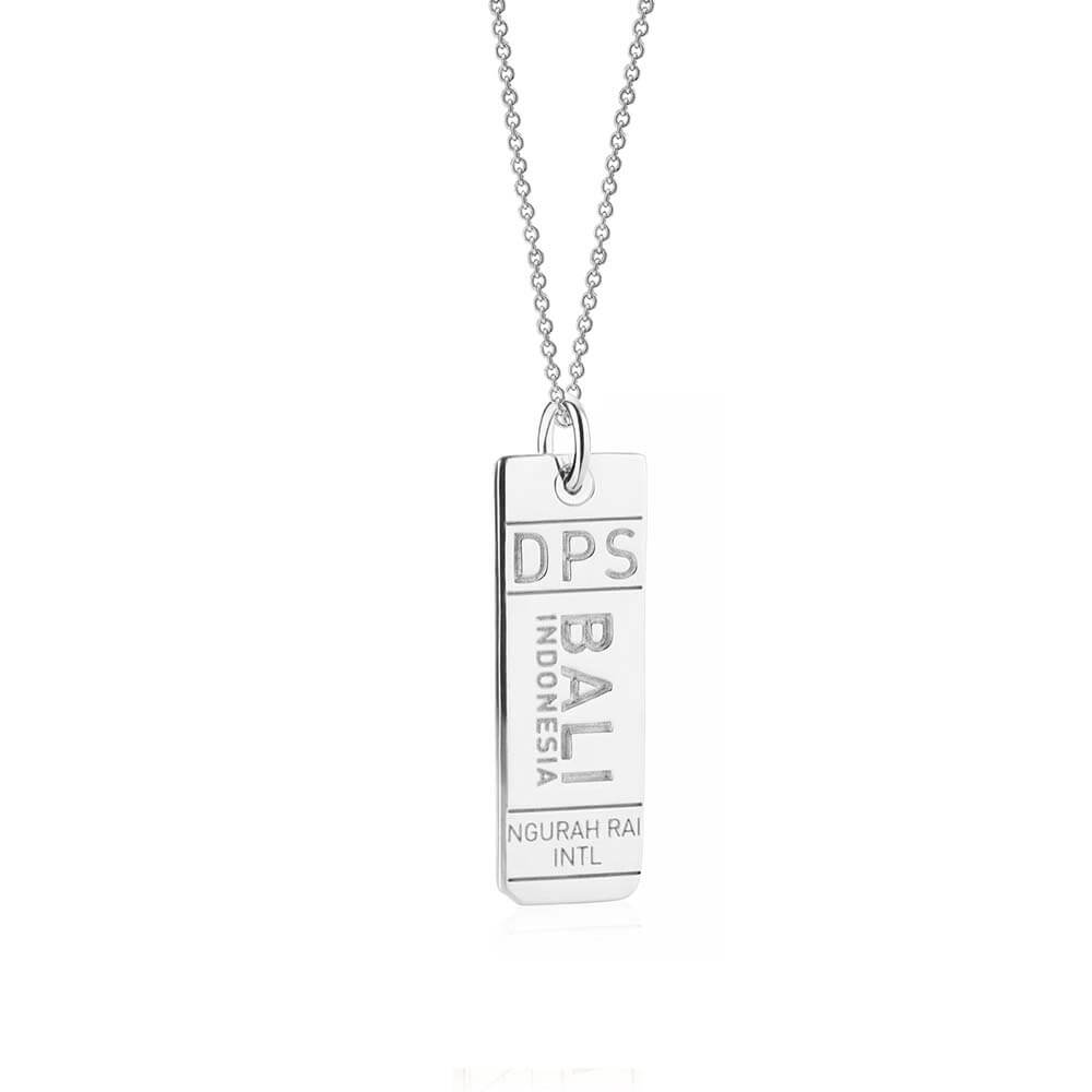 Silver Asia Charm, DPS Bali Luggage Tag - JET SET CANDY
