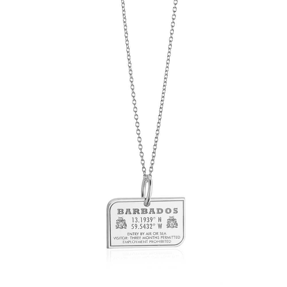 Sterling Silver Barbados Passport Stamp - JET SET CANDY