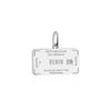 Sterling Silver Travel Charm, Benin Passport Stamp - JET SET CANDY