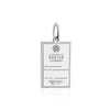 Sterling Silver Travel Charm, Bhutan Passport Stamp - JET SET CANDY
