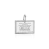 Sterling Silver Travel Charm, Bolivia Passport Stamp - JET SET CANDY