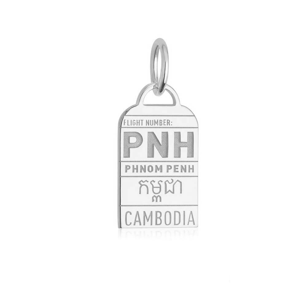 Silver Cambodia Charm, PNH Phnom Penh Luggage Tag - JET SET CANDY