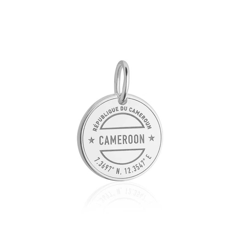 Sterling Silver Travel Charm, Cameroon Passport Stamp - JET SET CANDY