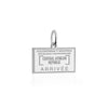 Silver Travel Charm, Central African Republic Passport Stamp - JET SET CANDY