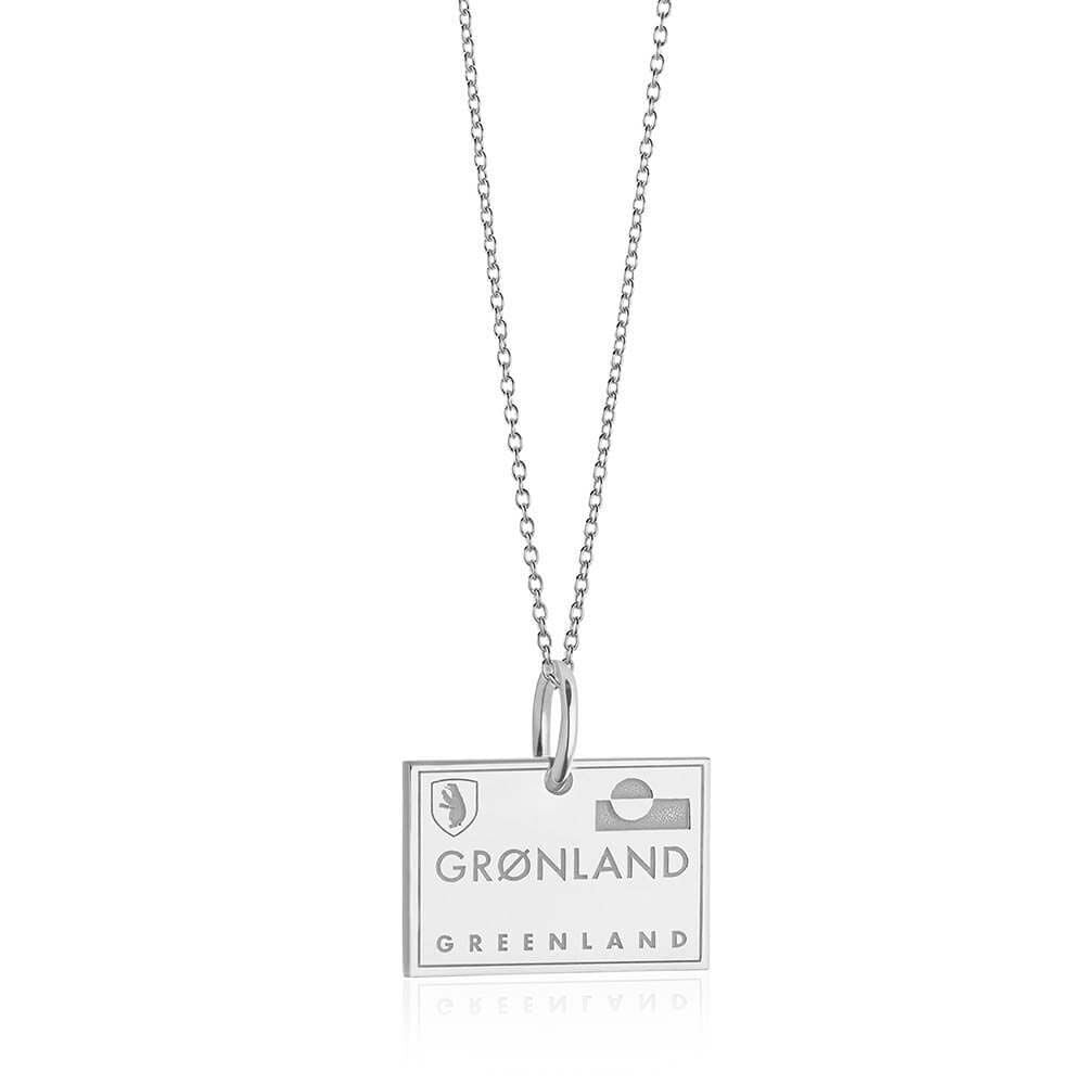 Silver Greenland Charm, Passport Stamp - JET SET CANDY