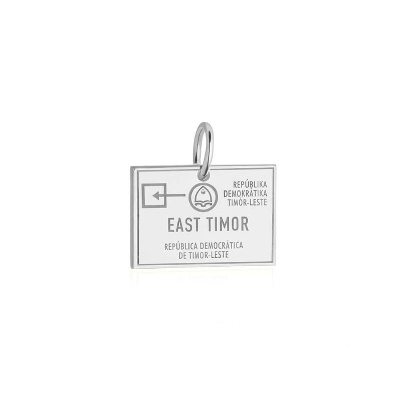 Sterling Silver Charm, Timor-Leste Passport Stamp (BACK-ORDER-SHIPS MAY) - JET SET CANDY