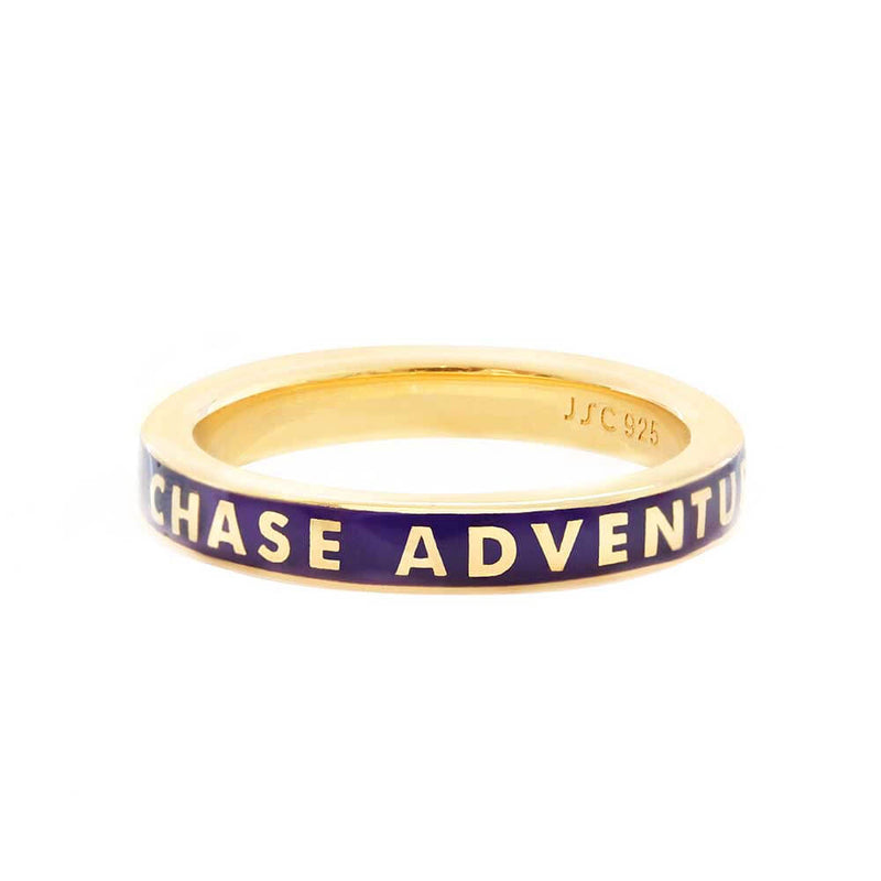Purple Enamel Gold Ring, Chase Adventure - JET SET CANDY