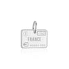 France Charm in Sterling Silver, Passport Stamp (BACK ORDER-SHIPS MARCH) - JET SET CANDY