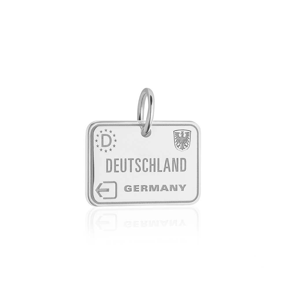 Silver Germany Charm, Passport Stamp (BACK ORDER, SHIPS EARLY MARCH) - JET SET CANDY