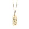 Gold Jackson Hole, Wyoming JAC Luggage Tag Charm