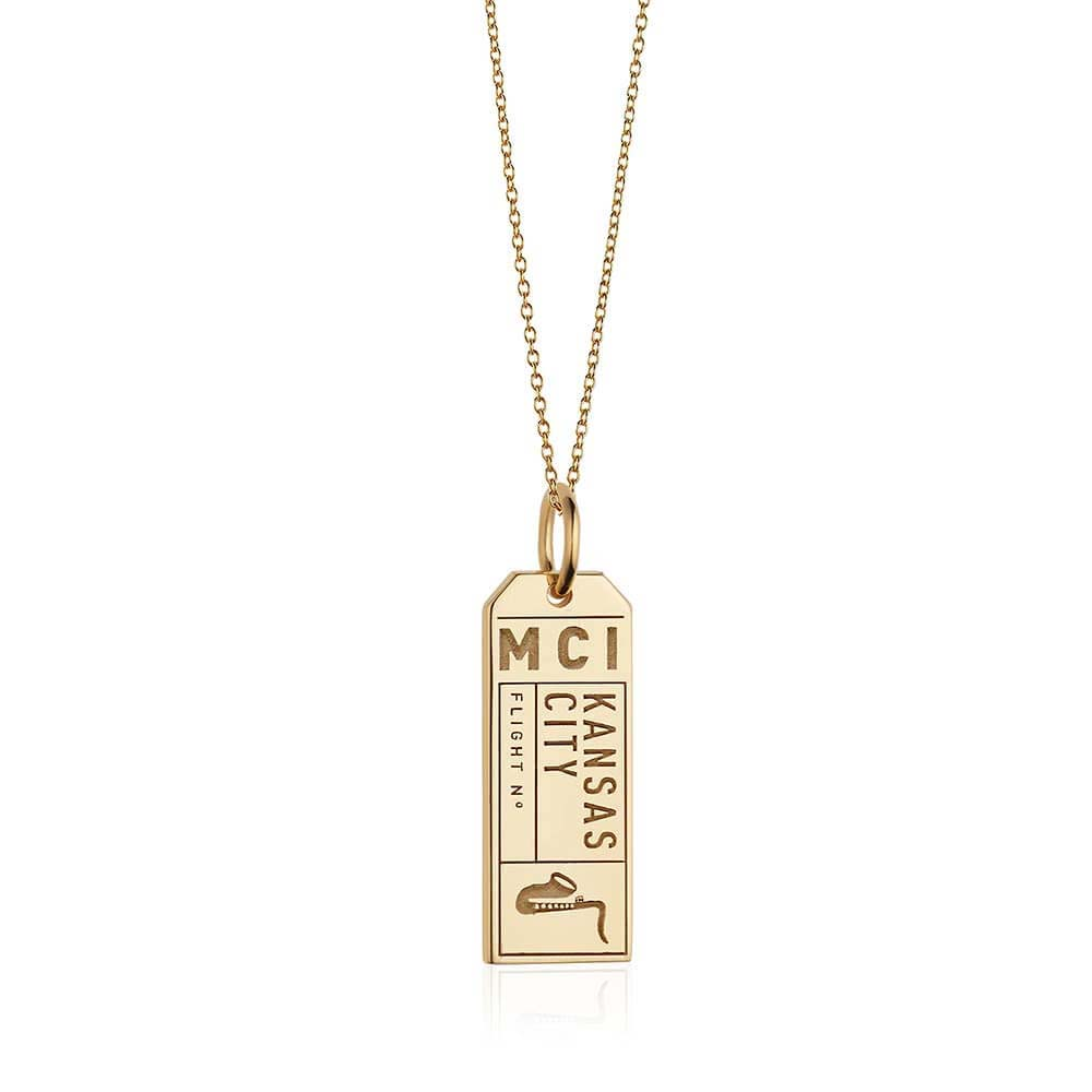 Gold Kansas City, Missouri MCI Luggage Tag Charm (BACK-ORDER-SHIPS LATE FEBRUARY/EARLY MARCH) - JET SET CANDY