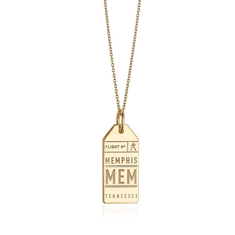 Gold Memphis Tennessee MEM Luggage Tag Charm (SHIPS LATE SEPTEMBER)